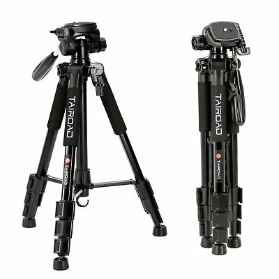 Travel DSLR Camera Tripod Lightweight with Carry Case - 3 Way Fluid Panhead