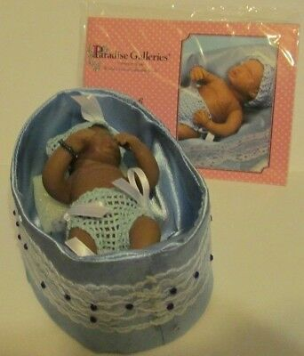 Paradise Galleries MARCH Birthstone Blessings Baby in Bassinet ByKymberli Durden