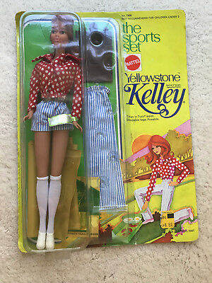 Vintage 1974 The Sports Set Yellowstone Kelley Barbie Doll Partial Mint In Box