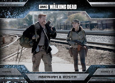 Topps Walking Dead Allegiance Series 2 Abraham Ford and Rosita Espinosa ICE
