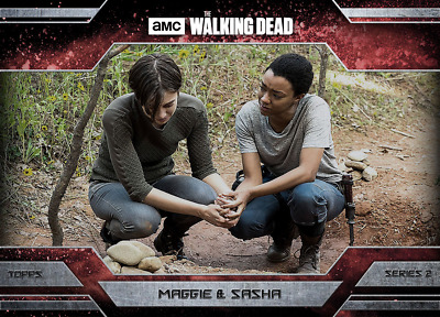 Topps Walking Dead Allegiance Series 2 Maggie Greene and Sahsa MAGMA 100cc
