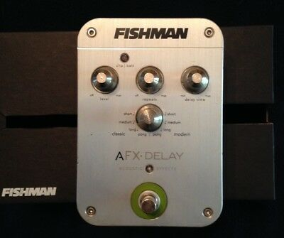 Fishman AFX Acoustic Guitar Delay Pedal - Excellent Condition