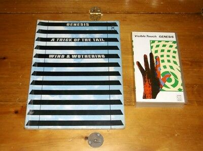 Genesis Visible Touch VHS + A Trick Of The Tail & Wind And Wuthering Song Book