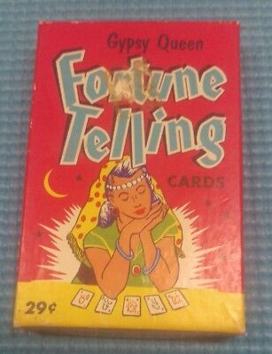 Vintage Gypsy Queen Fortune Telling Card Game Fairchild 1940's-1950's Complete
