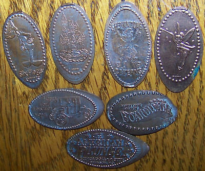 Lot 7 Elongated Cent Penny Walt Disney Theme Park