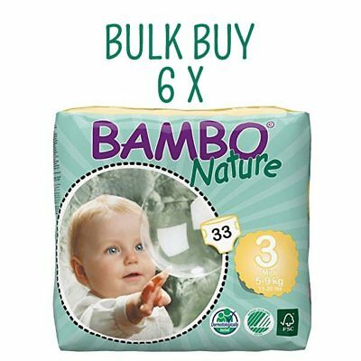 Bambo Nature Eco Nappies Midi Size 3 - Bulk