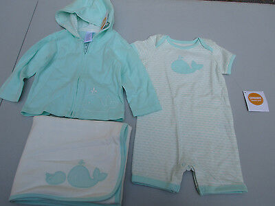 Gymboree baby  6-12 Month Whale Jacket One Piece Short Blanket Lot NWT