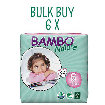NEW Bambo Nature Eco Nappies XL Size 6 - Bulk Eco Nappies ~ Bulk Buy & Save!