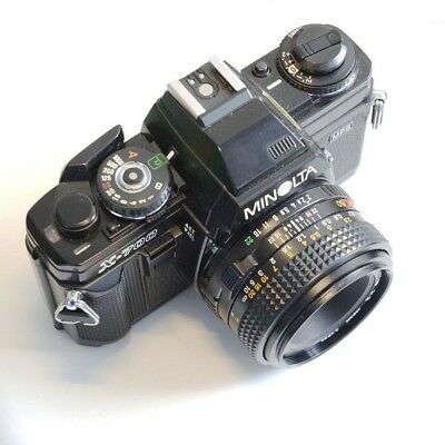 Minolta X-700 Manual Camera with MD 50mm f/2.0 Lens for Photography Students