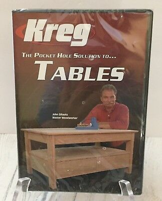 KREG V05-DVD Pocket Hole Joinery DVD Building Tables - Simple 2 step process NEW