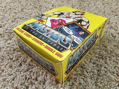 Vintage TOPPS MotU Picture Cards, Stickers, Bubble Gum - New in Box