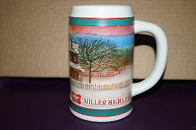 1985 Miller Beer Stein ...to The Best Holiday Traditions...new