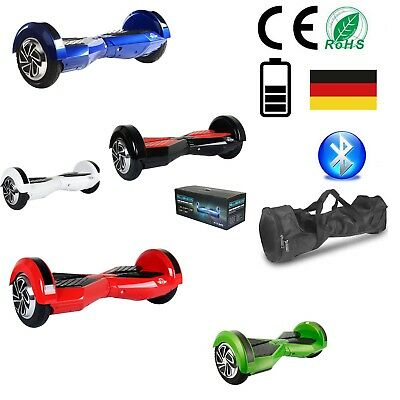 """Hoverboard 8"""" Pollici Luci Led Bluetooth Monopattino Elettrico Scooter Overboard"""