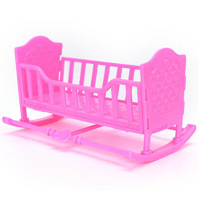 Darling Doll Furniture for American Girl Rocking Cradle Bed Pink P&L
