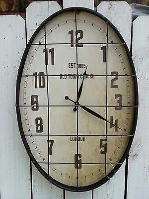 Large SUBWAY metal wall clock OLD TOWN CLOCKS  french country home decor
