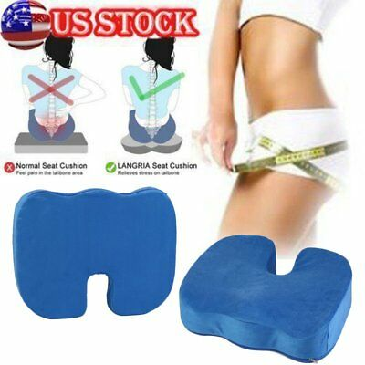 Memory Foam Coccyx Orthopedic Car Seat Office Chair Cushion Pain Relief Pillow S