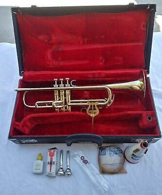 Martin Imperial Trumpet Elkhart Indiana Original And Case + Extras