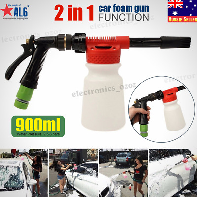 900ML Pressure Foam Soap Water Car Wash Sprayer Gun Cleaning Hose Pipe Lance