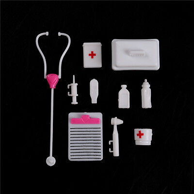 Doll Accessory Pretend Medical Toy Nurse Doctor Tool Instruments For Barbie HU