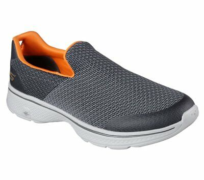 Skechers Go Walk 4 Charcoal Mens Slip On Comfort Walking Shoes Shoes All Sizes