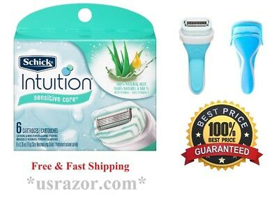 7 Schick intuition Natural Sensitive Razor Blades Shaver Refill Cartridges Plus