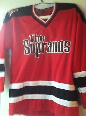 HBO Exclusive The Sopranos Hockey Jersey Shirt Large Excellent - Hard to find