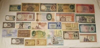 Egyptian Currency notes.  26 Very Rare Collectible Notes.  ENL. # 03