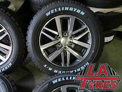 4x Toyota Hilux SR5 Wheels NEW Tyres 18 Inch Genuine Package Wellington AT Tyres