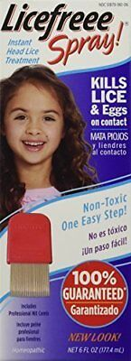 Licefreee Spray Instant Head Lice Treatment 6 Oz 3 Pack