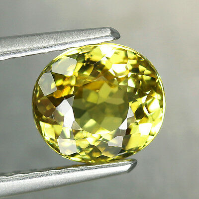1.52CT. 6.5x6mm Natural Mali Garnet Grossular Oval Yellow / S01477