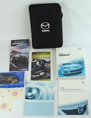 2006 Mazda 6 Owners Manual Set Complete With Zipper Mazda Logo Case/pouch