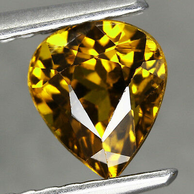 1.26CT. 6.5x5.5mm Natural Mali Garnet Grossular Pear Dark Yellow / S02027