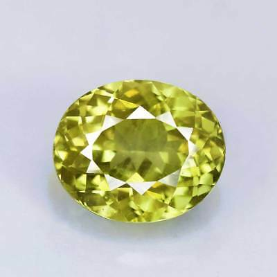 "3.13cts""Vivid Yellowish Green""Oval Cut"" Natural Grossular Garnet"" Mali ""PR2531"