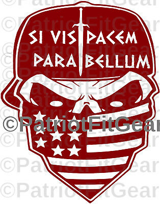Si Vis Pacem Para Bellum,Punisher Skull,Molon Labe,2A,Stickers,USA,Vinyl Decal