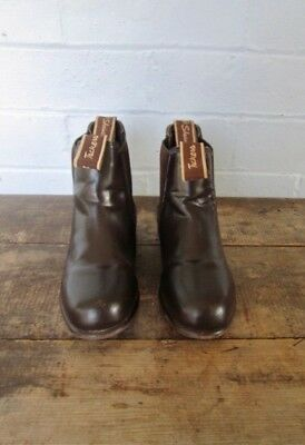 SHOWCRAFT Tackers ~ kids brown leather riding boots size 13 horse pony club