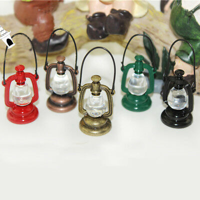 1:12 Miniature Dollhouse Oil Lamp Vintage Lamp Dollhouse Lighting Accessories