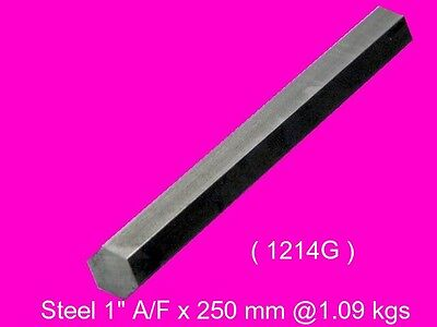 "Steel Hex  1"" A/F x 250 mm-Lengths-Lathe-Mill-Steam-OG"
