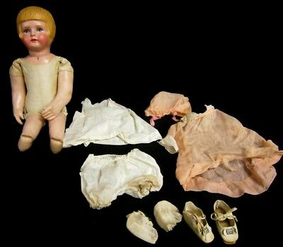 """VINTAGE MARTHA CHASE DOLL GIRL w/ BOBBED HAIR - EARLY STAMPED BODY - 16"""" #8291"""