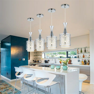 Modern crystal iron ceiling lights chandelier dining room for Modern crystal chandelier for dining room