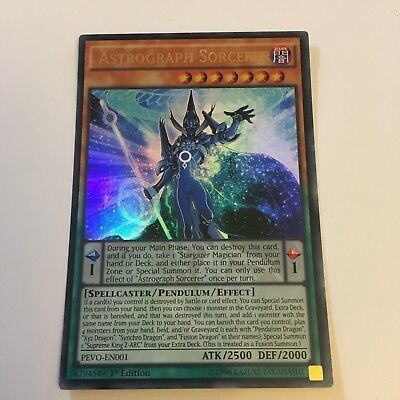 YuGiOh - Astrograph Sorcerer PEVO-EN001 - Ultra Rare 1st Edition BUY 3 SAVE 25%