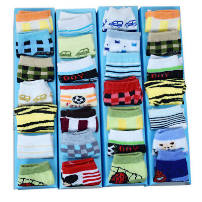 7 Days 7 Pairs of Baby Boy Socks Gift Box for Newborns 0-6Months Bear Design Mix