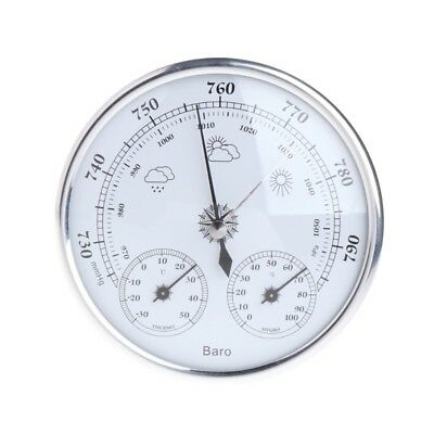 Wall Hanging Weather Station Barometer Thermometer Hygrometer 130mm 970~1040hPa