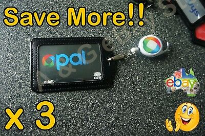 Opal Card Holder Retractable Lanyard ID Badge Card Security Pass CLIP IT/HOOK it