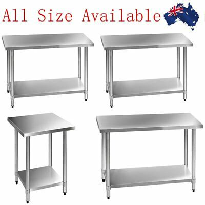 430 Commercial Stainless Steel Kitchen Work Bench Top Food Prep Table All Size