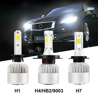 LED H1/H4/H7 200W 30000LM Headlight Car Conversion HID Bulb Beam KIT 6500K White