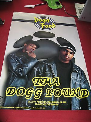 Tha Dogg Pound - Dogg Food Promo Poster vintage 1995 NEW MINT DEATH ROW Snoop