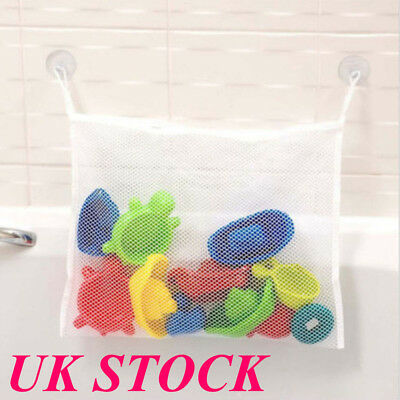 UK Kids Baby Bath Time Toys Storage Drain Suction Pouch Playtime Tidy Bag Holder Bath Toys Baby Bathing/Grooming