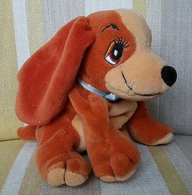 "Lady from Lady and The Tramp 6"" Beanie Plush Soft Toy by Disney BNWT"