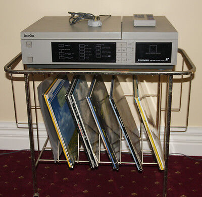 Pioneer Laserdisc Player. LD 1100  from 1982.  plus disks and stand