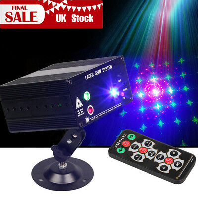 48 Patterns RGB Laser Projector Stage Lighting LED Light Disco DJ Party + Remote